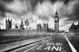 תמונה למשרד של לונדון בשחור לבן