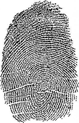 תמונה למשרד טביעת אצבע על פוסטר שחור לבן