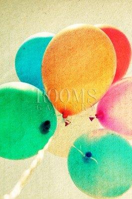 תמונה למשרד בלונים צבעוניים