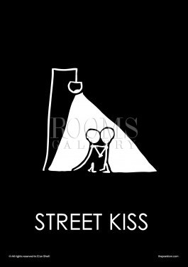 תמונה לחדר שינה זוגי פוסטר של נשיקת רחוב