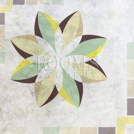 תמונה לסלון פרח גאומטרי ירוק