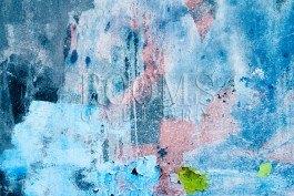 תמונת אבסטרקט לסלון תכלת כחול וורוד