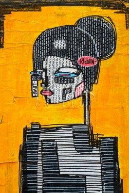 תמונה למשרד ולבית איור גרפי אישה רובוט