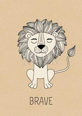 אריה אמיץ תמונה לחדר ילדים