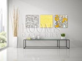 תמונות לקיר בסלון לאוהבי צהוב