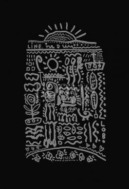 תמונה לקירות הבית כתב סתרים בשחור לבן