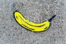 תמונות למשרד ולבית גרפיטי של בננה לחדר נוער