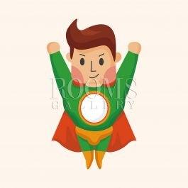 גיבור על חלל תמונה מקסימה לחדר ילדים