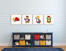 רביעיית הגיבורים תמונות לבית קולקציה ייחודית של מעצבות roomsgallery