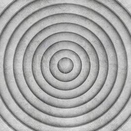 תמונה לסלון גאומטרי בשחור לבן