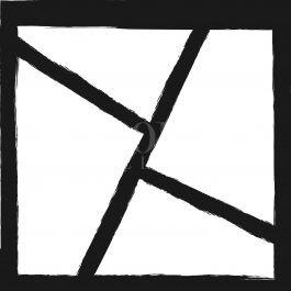 תמונות גאומטריות בשחור לבן לסטייל במשרד