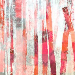 תמונת אבסטרקט בגווני אדום עדין