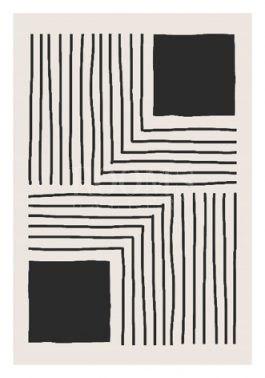 תמונות לסלון בצבעים שחור ולבן